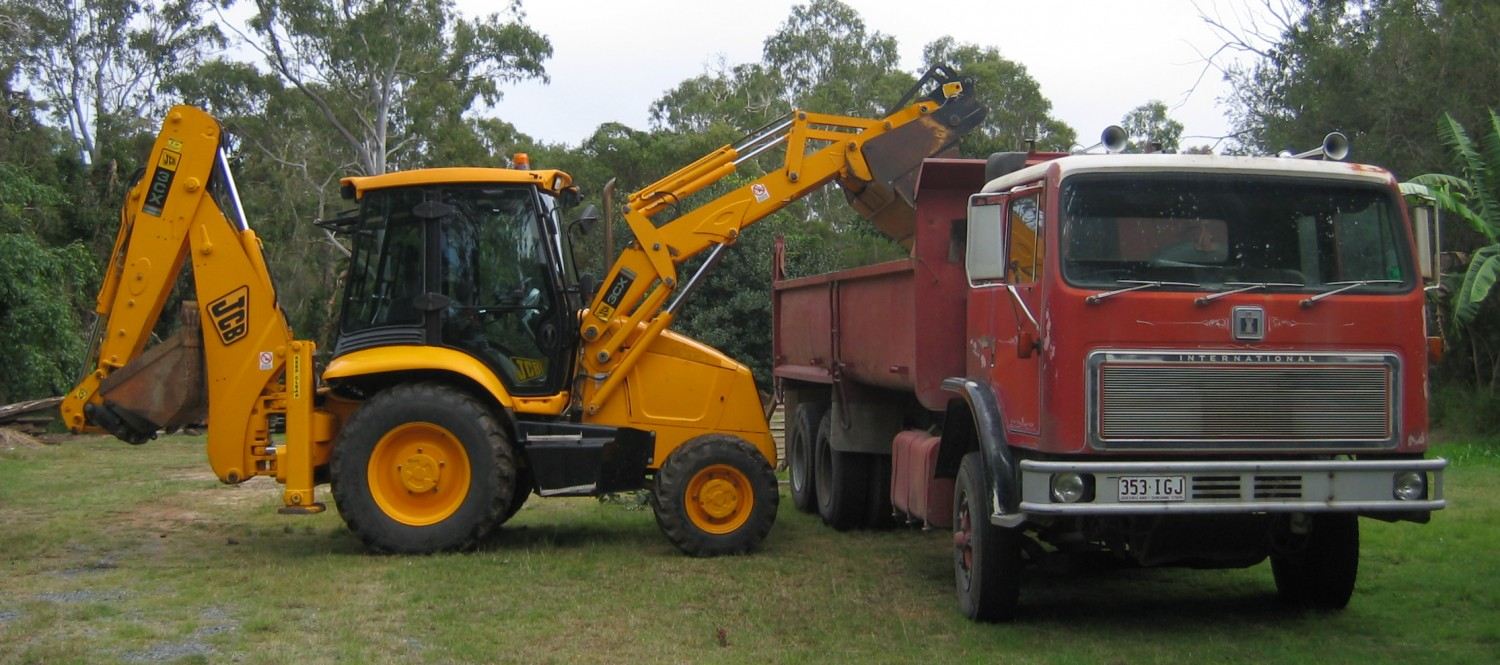 backhoe and 14m tipper supplied with licensed and experienced operator